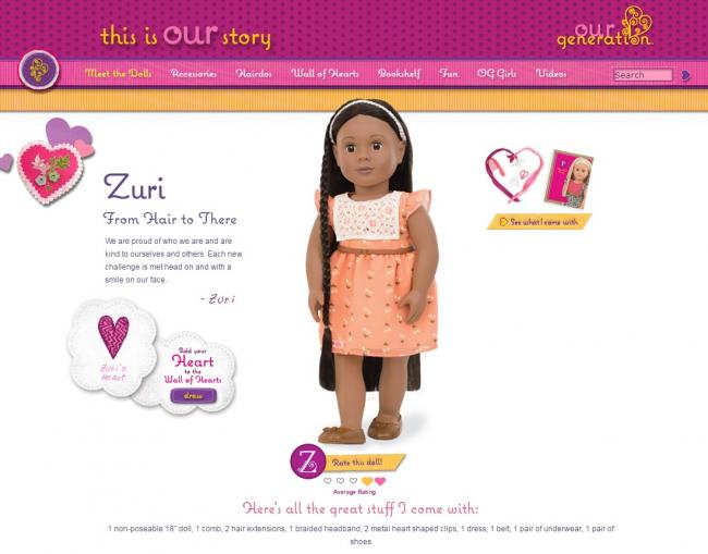 Zuri Hair Play Dollation