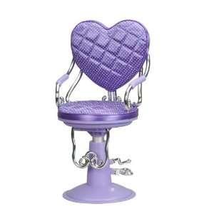 Heart Shaped Salon Chair   Purple